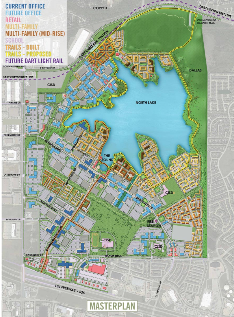 Cypress Waters Master Plan Map