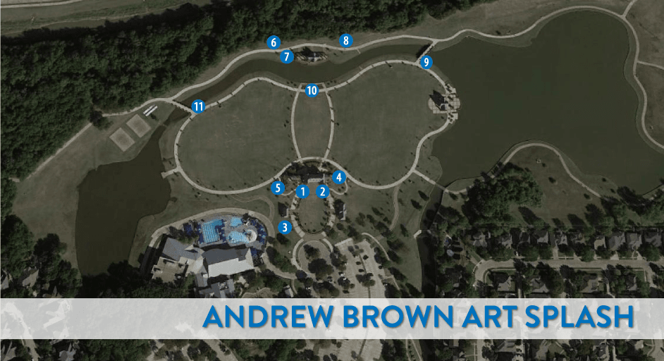 Andrew Brown Park East Art Splash Numbered Map