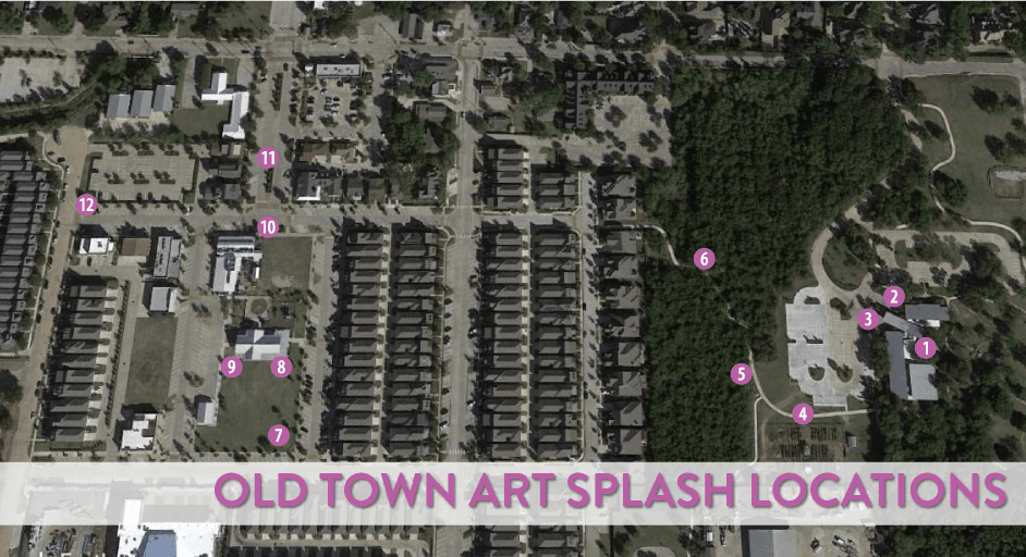Old Town Art Splash Locations Map
